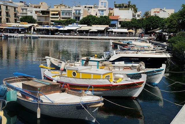 Agios Nikolaos port in Crete
