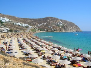 elia beach in Mykonos