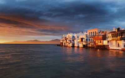 greece mykonos sunset