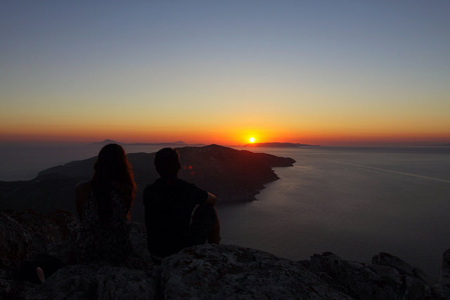 sunset in folegandros