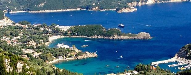 deep blue sea in Corfu Greece