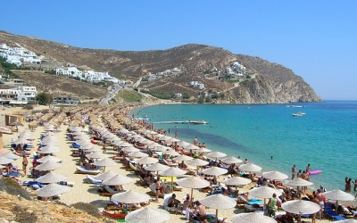 mykonos beach greek honeymoon